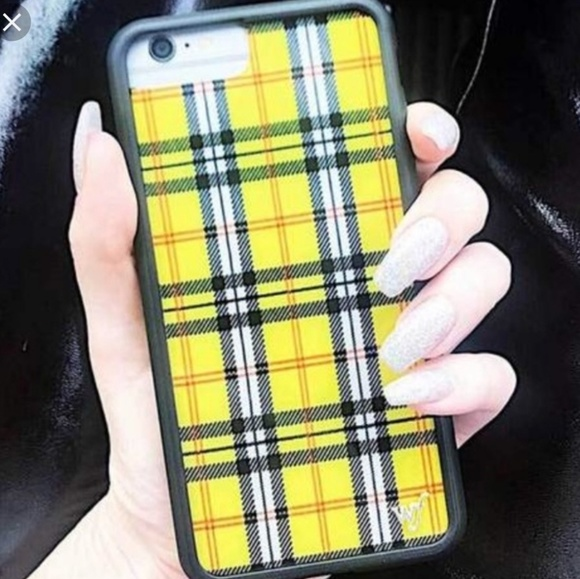 buy popular 064d3 9f65f Yellow Plaid iPhone XS , X case Wildflower Boutique